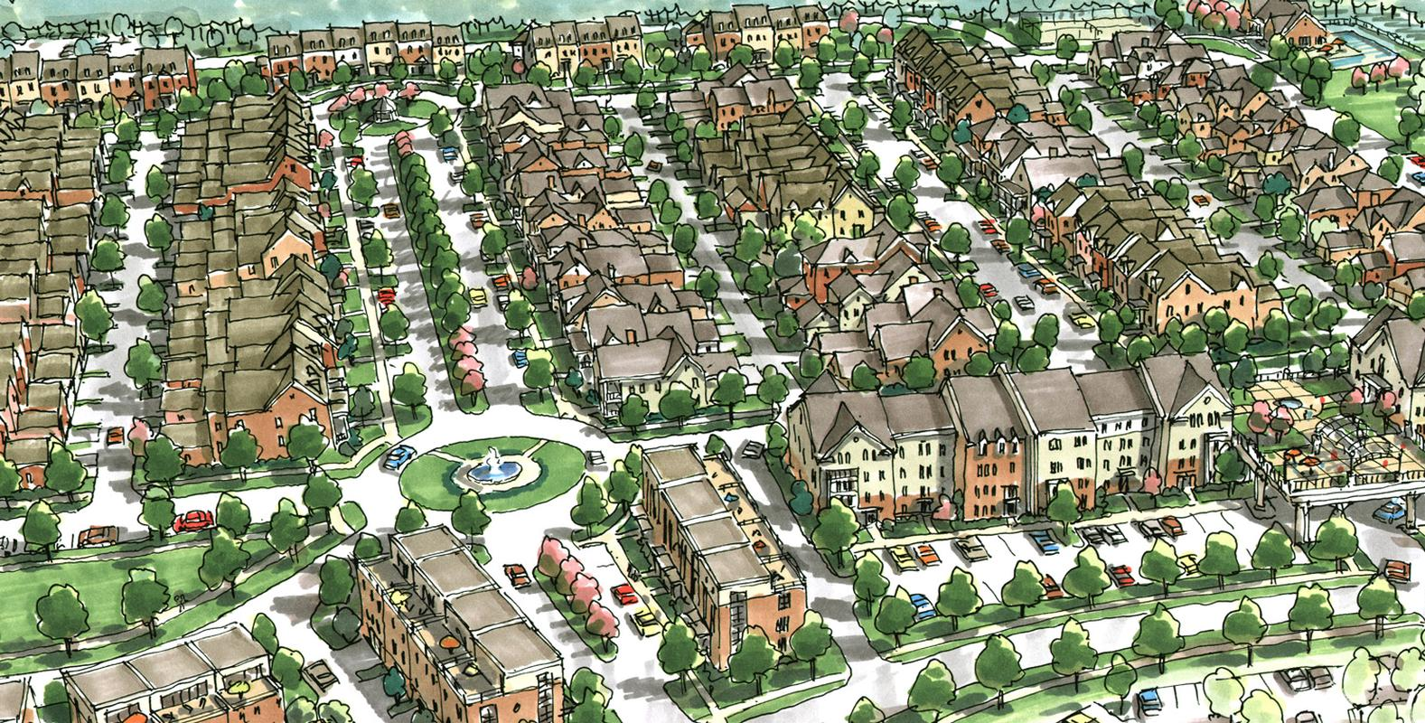 EDGE master planning community sketch of Indian Lake Village