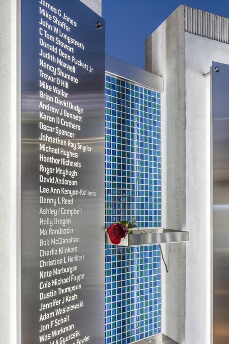 names on the organ donor memorial at Lifeline of Ohio