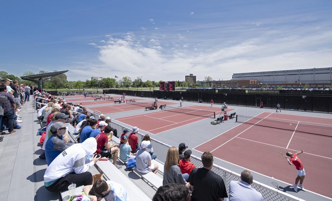 Tennis courts at The Ohio State University Athletic Sub-District master planning by EDGE.
